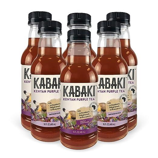Kabaki Kenyan Purple Tea Pure and Simple 16 fl oz Variety 6-Pack