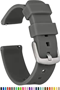 GadgetWraps 20mm Gizmo Watch Silicone Watch Band Strap with Quick Release Pins – Compatible with Gizmo Watch, Samsung, Pebble – 20mm Quick Release Watch Band (Gunmetal Grey, 20mm)
