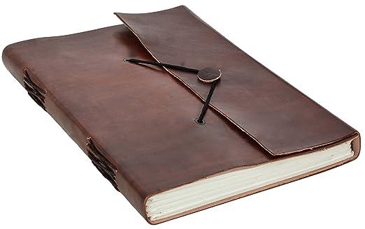 """25 opinioni per Gusti Pelle nature """"Ela"""" Block Notes Blocco per Appunti Libro Diario DIN B5"""