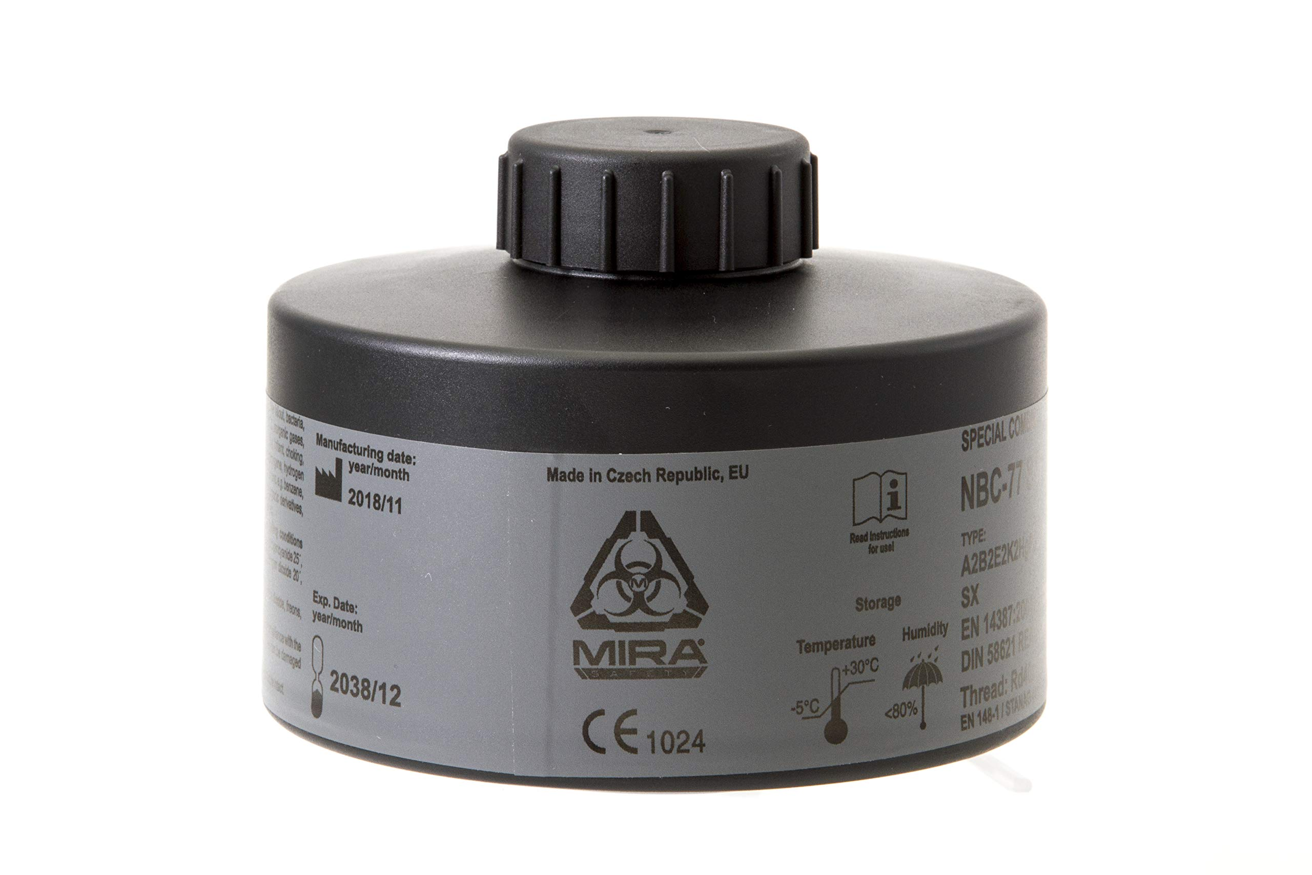 MIRA Multi Gas Vapor Cartridge Respiratory Protection 20 Years Shelf Life CBRN NBC Grade (Mira Filter) by MIRA SAFETY M (Image #1)