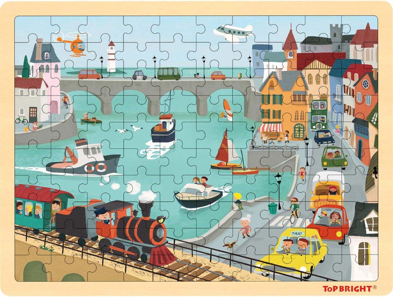 TOP BRIGHT 100 Piece Wooden Jigsaws