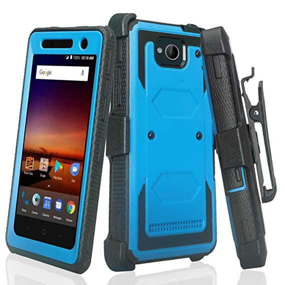 huge sale 63f9c 3f31f [GALAXY WIRELESS] For ZTE Majesty Pro Case, ZTE Majesty Pro Plus Case,  Heavy Duty Belt Clip Holster [Built In Screen Protector] Full Body Coverage  ...