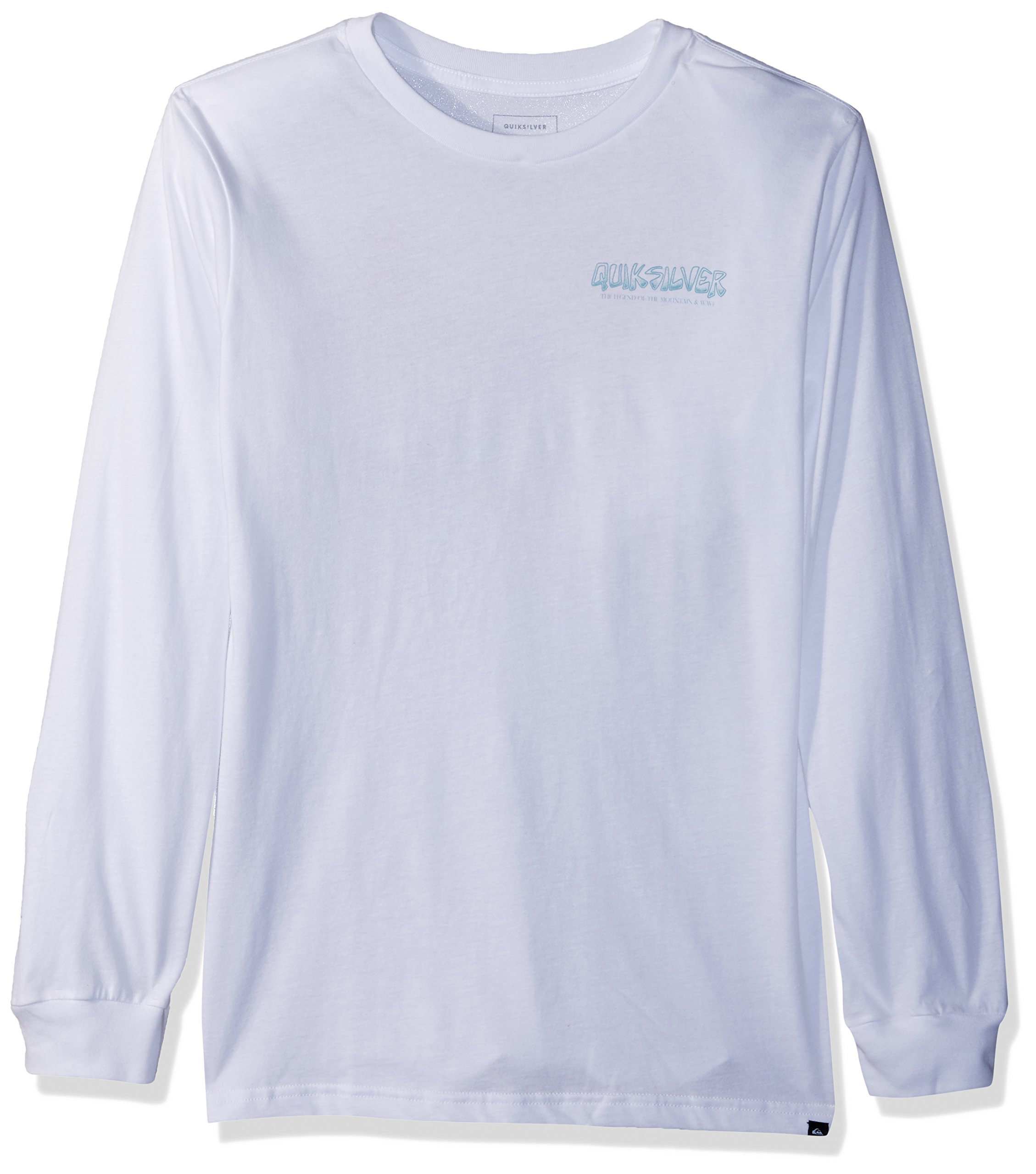 Quiksilver Big Boys' The Original M and W Youth Long Sleeve Tee Shirt, White, S/10