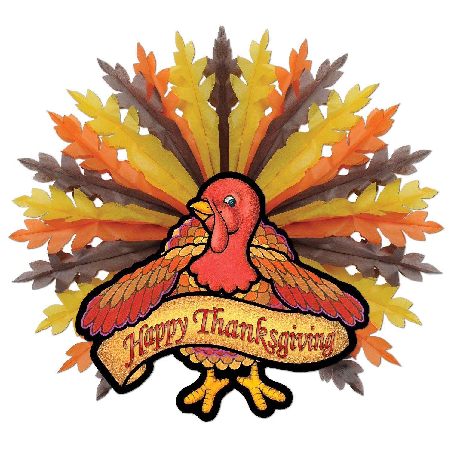 Beistle S99160AZ2 Thanksgiving Turkey Hanging Decorations 31 Pack of 2