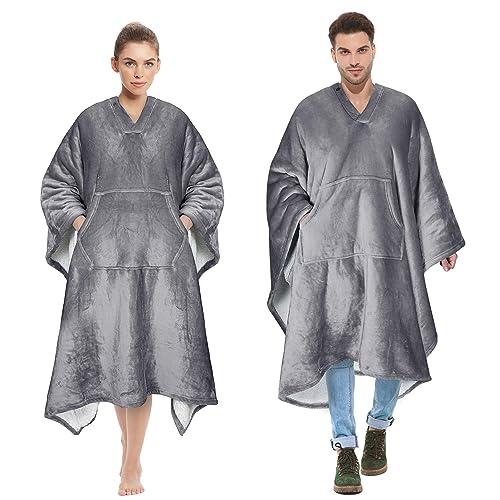 普通の毛布にもなるCataloniaの着る毛布ポンチョ