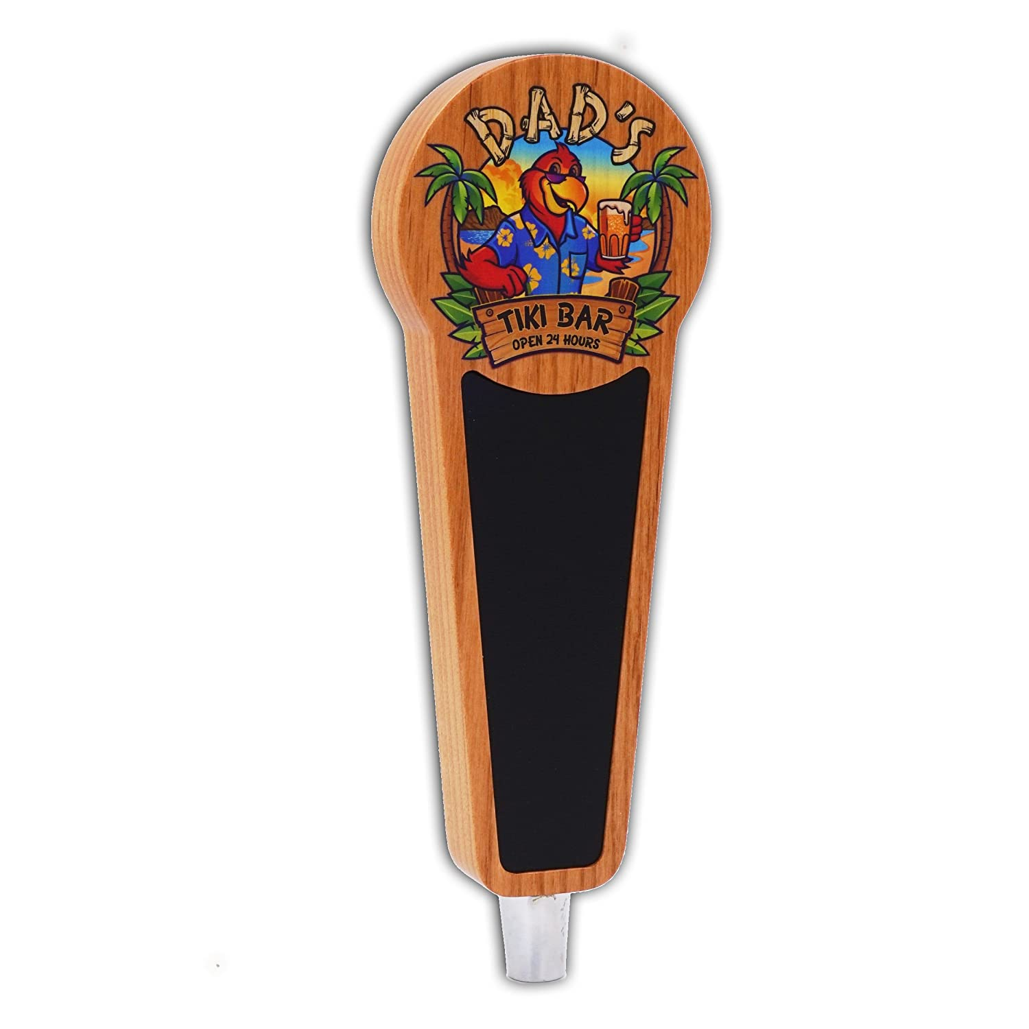 Beer Tap Handle with Chalkboard for Kegerator-Tiki Bar Edition