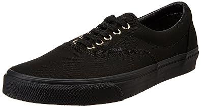 Vans Men s Era Gold Mono Black Leather Sneakers - 10 UK  Buy Online ... b2445dc28