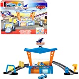 Disney Pixar Cars Color Change Dinoco Car Wash Playset with Pitty and Exclusive Lightning McQueen Vehicle, Interactive Water