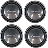 """4) Pioneer 12"""" 2000W Champion Car Power Subwoofers 4-Ohm DVC Subs 