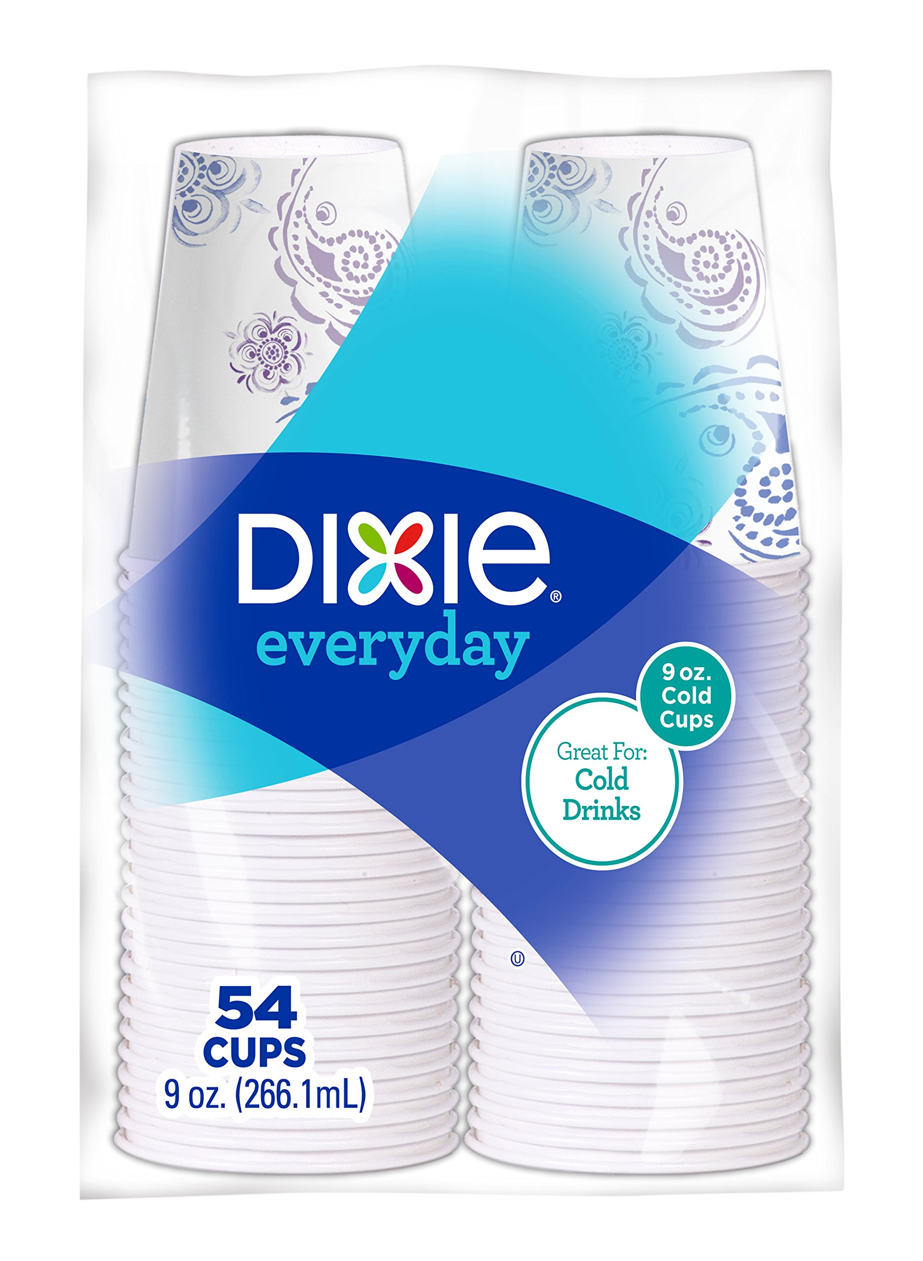 Dixie Everyday Disposable Paper Cups, 9 Ounces, 162 Count (3 Packs of 54 Cups)