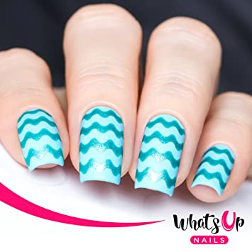 Amazon Whats Up Nails Wave Tape Vinyl Stencils For Nail Art