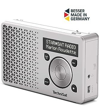 Wonderlijk TechniSat Digitradio 1 tragbares DAB Radio mit Akku (DAB+, UKW, FM SR-95