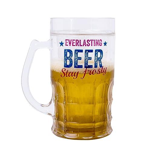 Vaso de cerveza Everlasting - Novedad congelador cerveza de acero ...
