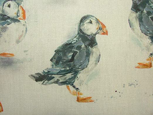 Blinds Curtains NEW Voyage Decoration Puffins Linen Fabric Cushions IN STOCK