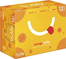 bubly Sparkling Water, Mango, 12 ounce Cans (Pack of 12)