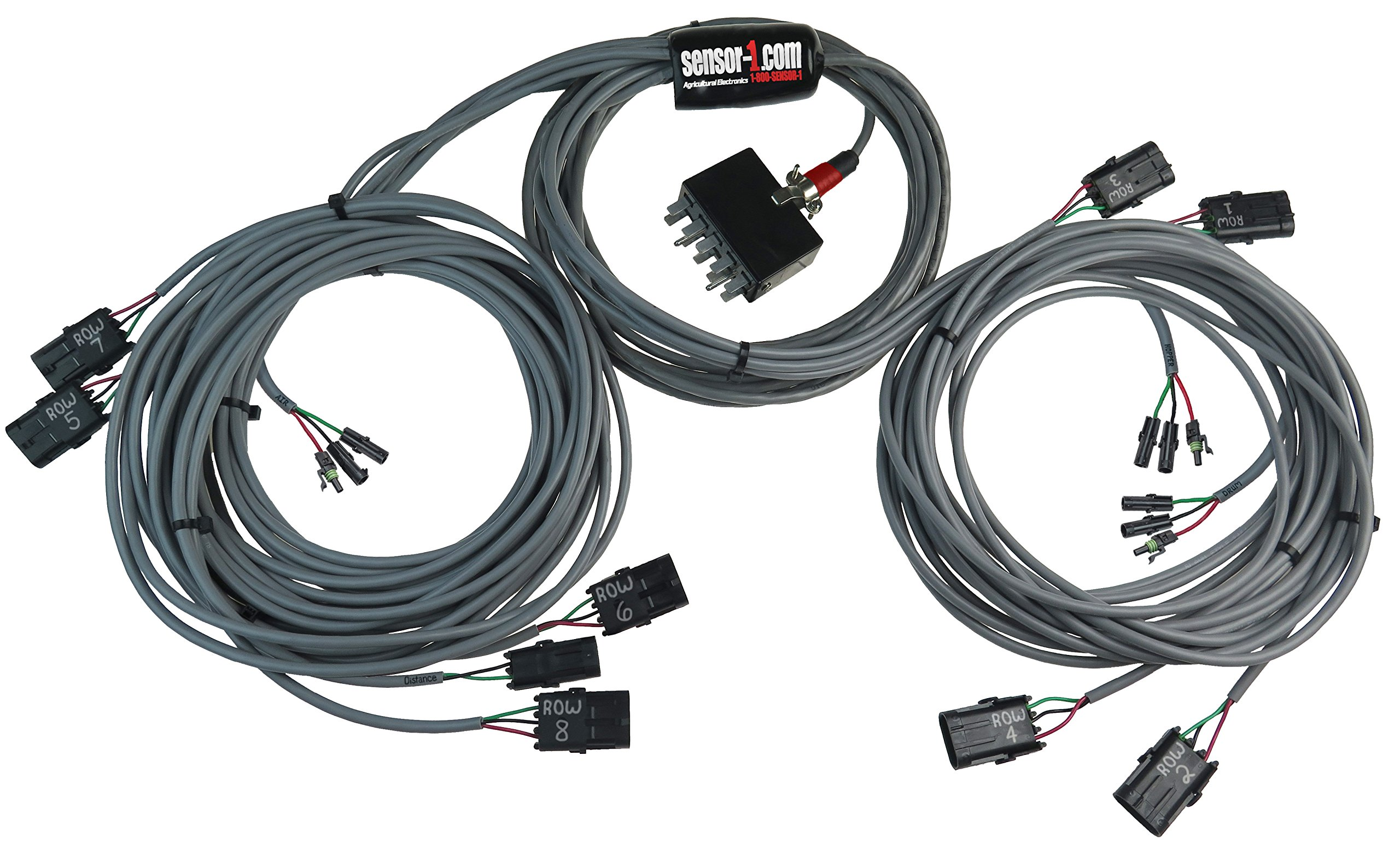Sensor-1 HPCWP08 8-Row Harness for Performance Center Monitor with Weather Pack Connectors