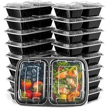 Amazon.com: Ez Prepa [20 unidades] 2 compartimentos para ...