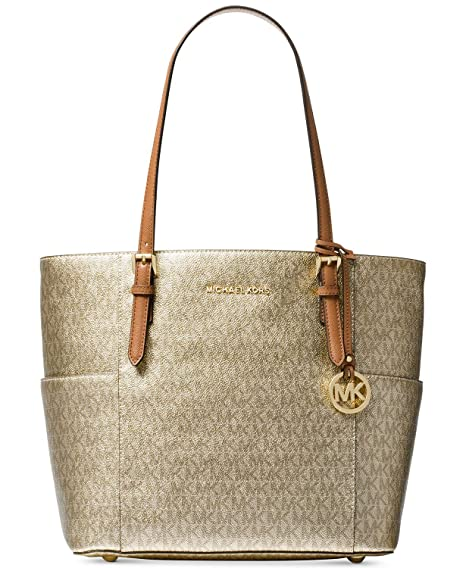 3da59e8be Image Unavailable. Image not available for. Color: Michael Kors Women's Jet  Set Travel Small Logo Tote Bag ...