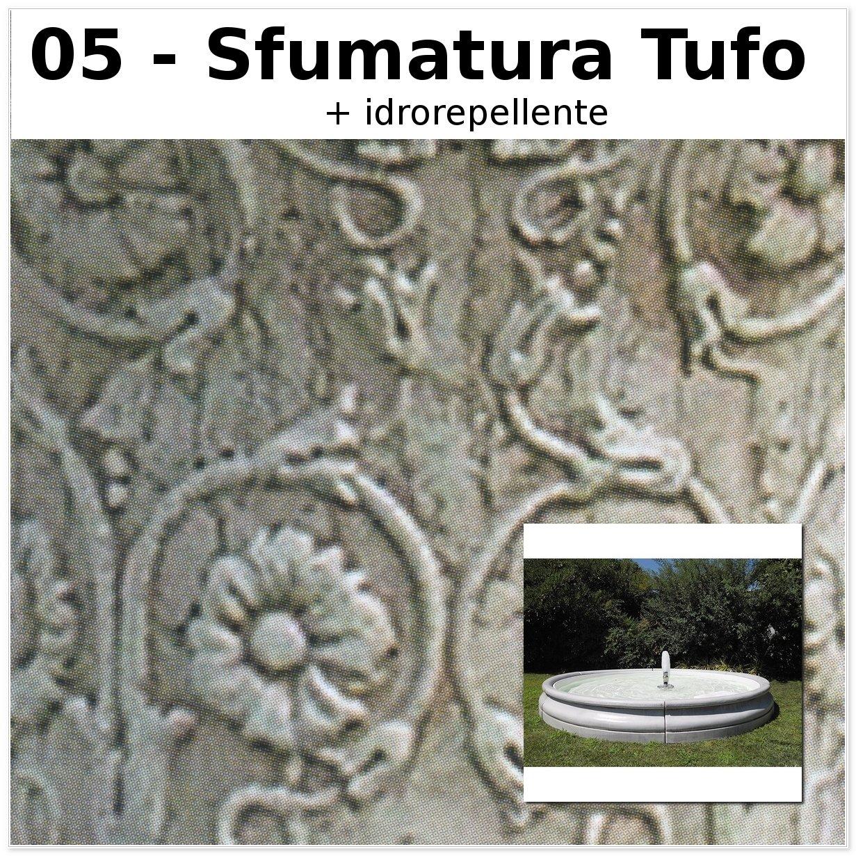 FONTANA DA GIARDINO SONDRIO CM240X240X32H SFUMATURA TUFO