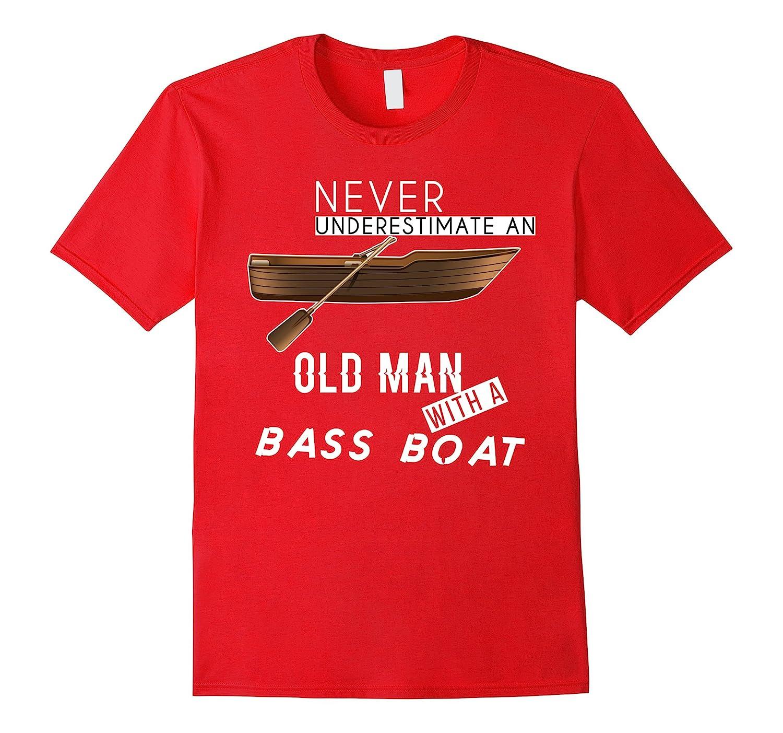 Bass Boat T-shirt - Never underestimate an old man-BN