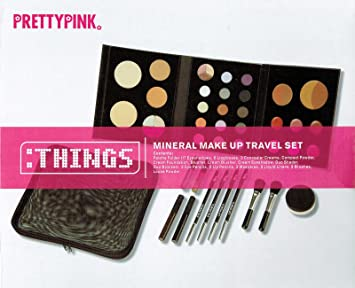 Amazon.com: Pretty rosa mineral Make Up juego de viaje: Beauty