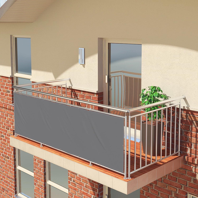 BROWN BALCONIO PREMIUM Balcony screen 300 x 85 cm water-repellent