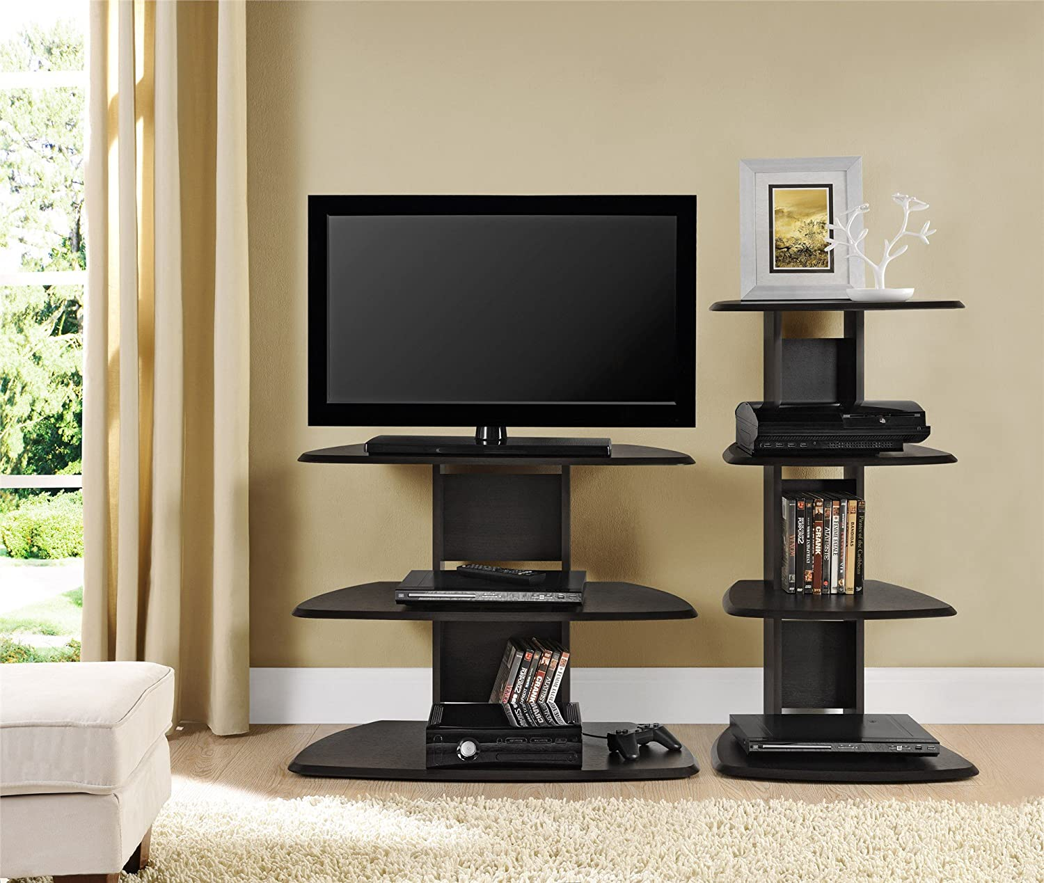amazon com ameriwood home galaxy ii tv stand for tvs up to 32