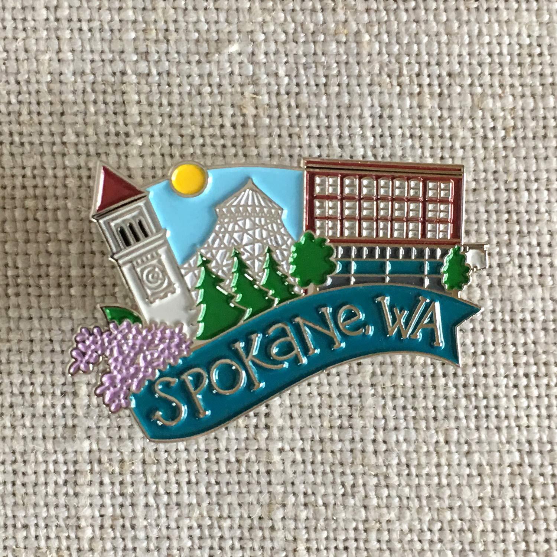 Spokane Washington Lapel Pin