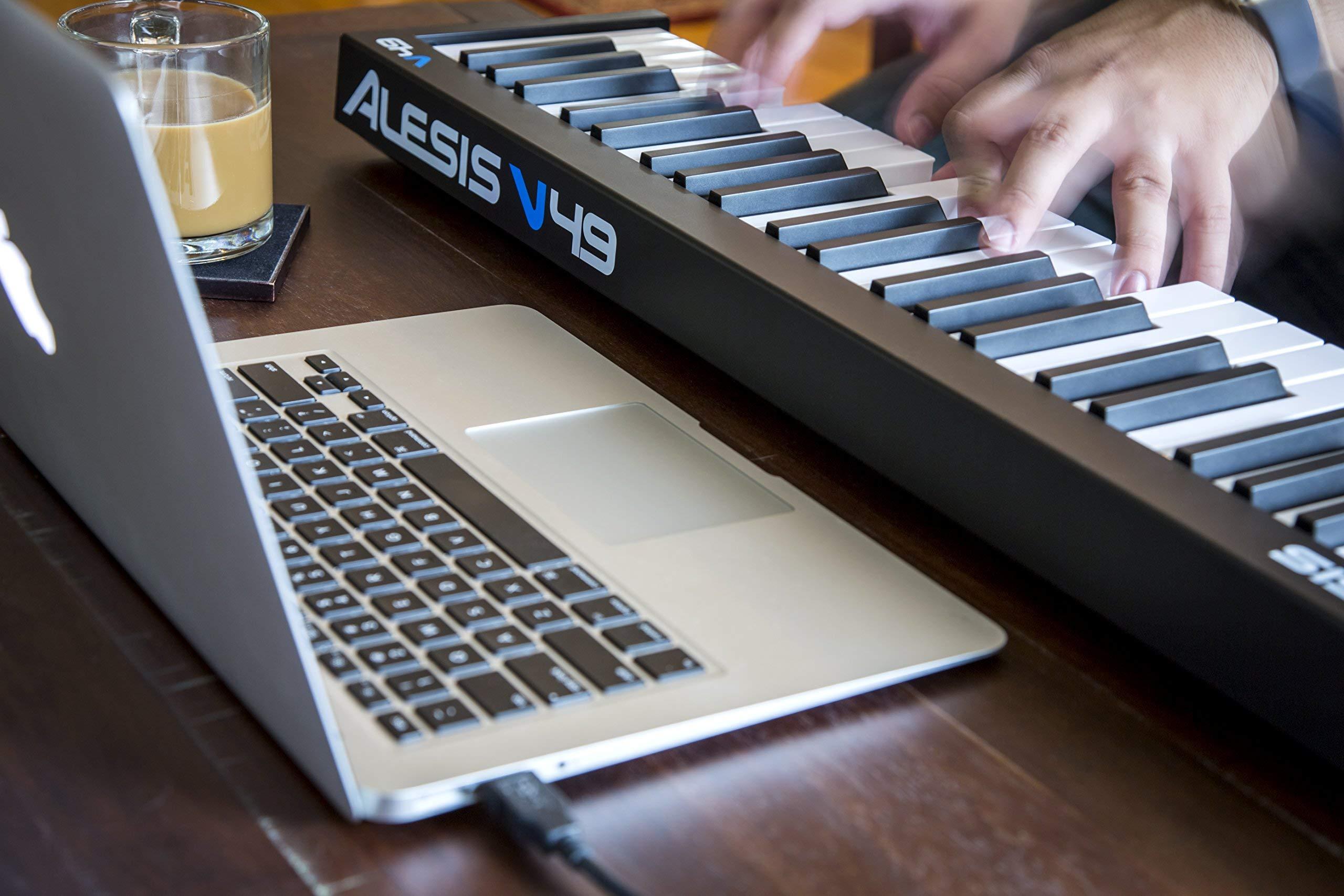 Alesis V49   49-Key USB MIDI Keyboard & Drum Pad Controller (8 Pads / 4 Knobs / 4 Buttons) (Renewed)