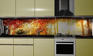 Kuchenruckwand Folie Herbst Klebefolie Spritzschutz Kuche