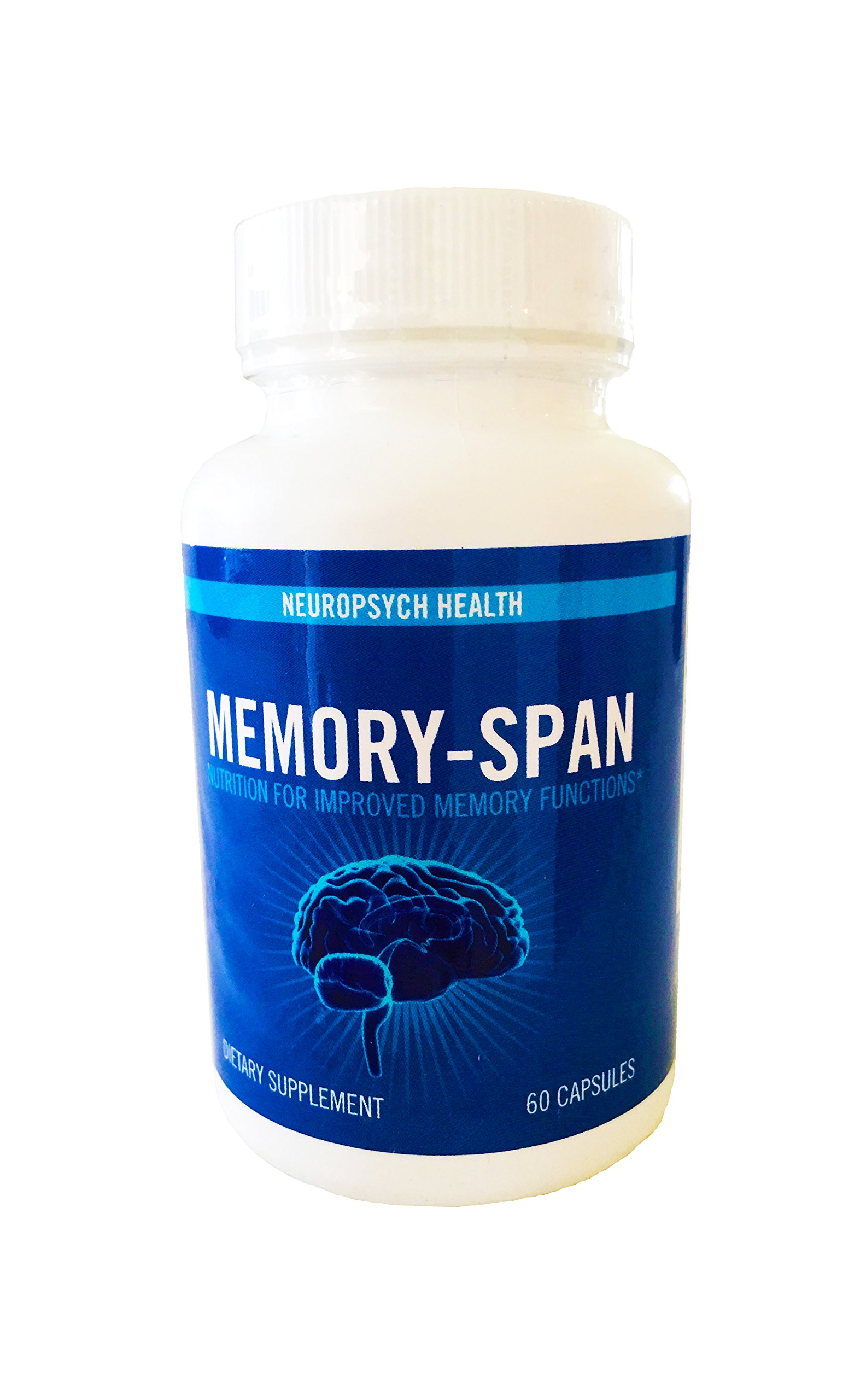 Memory-Span Brain Nootropics Supplement with DMAE, GABA, Vitamin B6 (60 Capsules) Promotes Mental Focus, Clarity, Memory Retention | Energy & Metabolism Booster