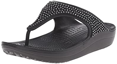 af5c1cd93bb5 crocs Women s Sloane Diamante Flip Flop