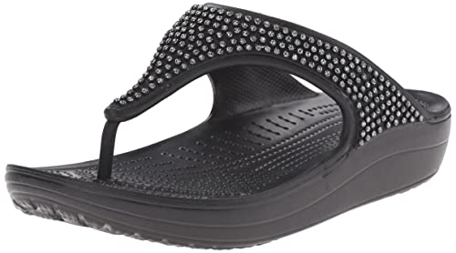 60b2485da4f8f8 Crocs Women s Black Mesh Slippers - W5  Buy Online at Low Prices in ...