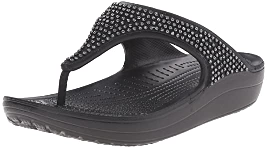 Crocs Crocs Sloane Diamante Flip Women Slipper Fashion Sandals at amazon