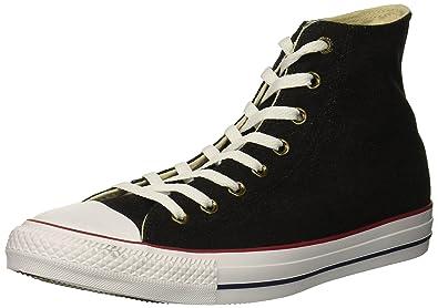 f6701feb0416fc Converse Women s Chuck Taylor All Star Denim High Top Sneaker Black White  Brown 10.5