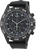 Timex Mens Sport - T2N886AU - Montre Homme - Quartz Chronographe - Eclairage - Bracelet Silicone Noir
