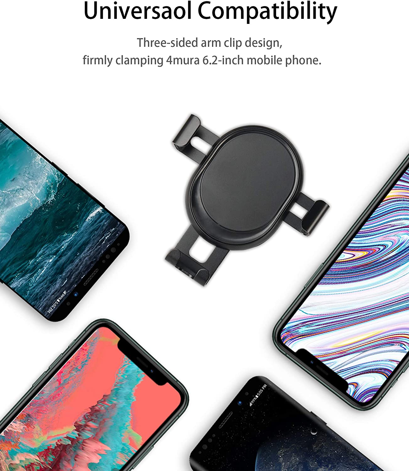 Black Google Pixel 2 XL LG G6 Smartphone Hevsd Car Air Vent Mount Cell Phone Holder Gravity Compatible for iPhone 11 Pro Max Xs Max XR X 6S 7 Plus 8 6 Samsung Galaxy S9 S7 Edge S8 S10 S6