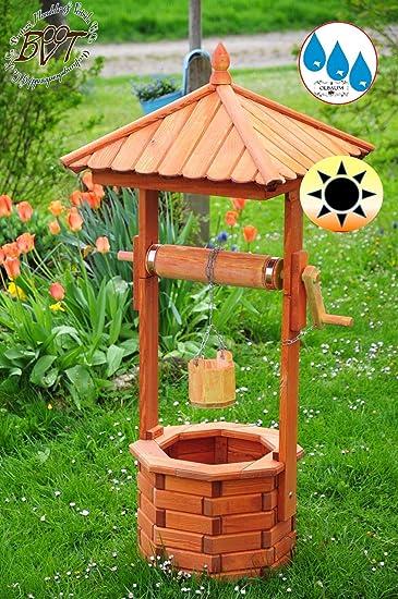XXL Brunnen, Garten Brunnen Ca. 130 140 Cm, HOLZ Einstöckig Designer