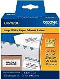 Brother Genuine DK-1208 Die-Cut Large Address Labels, Long Lasting Reliability, Die-Cut Large Address Paper Labels, 400 Labels per Roll, (1) Roll per Box