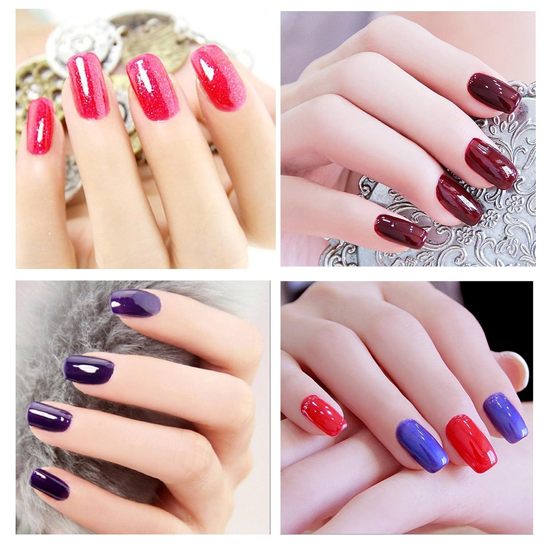 yaoshun barniz de laca de uñas de gel UV Esmalte Soak off UV LED de larga duración Shiny Manicura Color 8 ml ys053: Amazon.es: Belleza