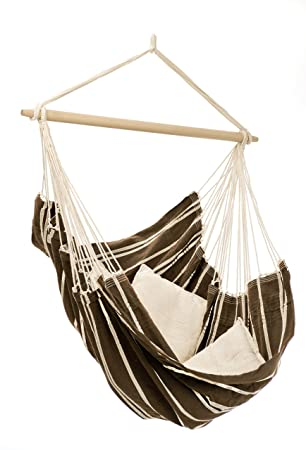 Medium image of hanging brazil hammock chair mocha by byer of maine