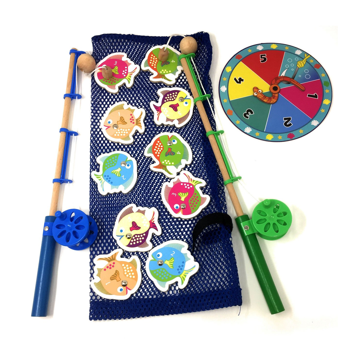 Catch and Count Magnetic Fishing Rod - Fishing Game for Kids