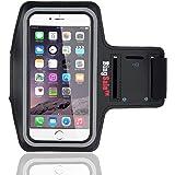 Bingsale iphone 6S / 6 (4,7 Zoll) Original Neoprene Deluxe Dual Fit Easy Fit Freizeit und Sport Armband Armtasche in Schwarz (iphone 6S / 6, Schwarz)