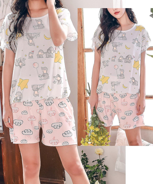 Leisure Home Big Girls New Sweet Summer Pajamas Set Soft Short Sleepwear 8y-16y