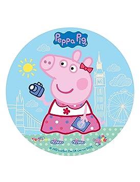 COOLMP - Lote de 6 Discos de azúcar Peppa Pig de 20 cm ...