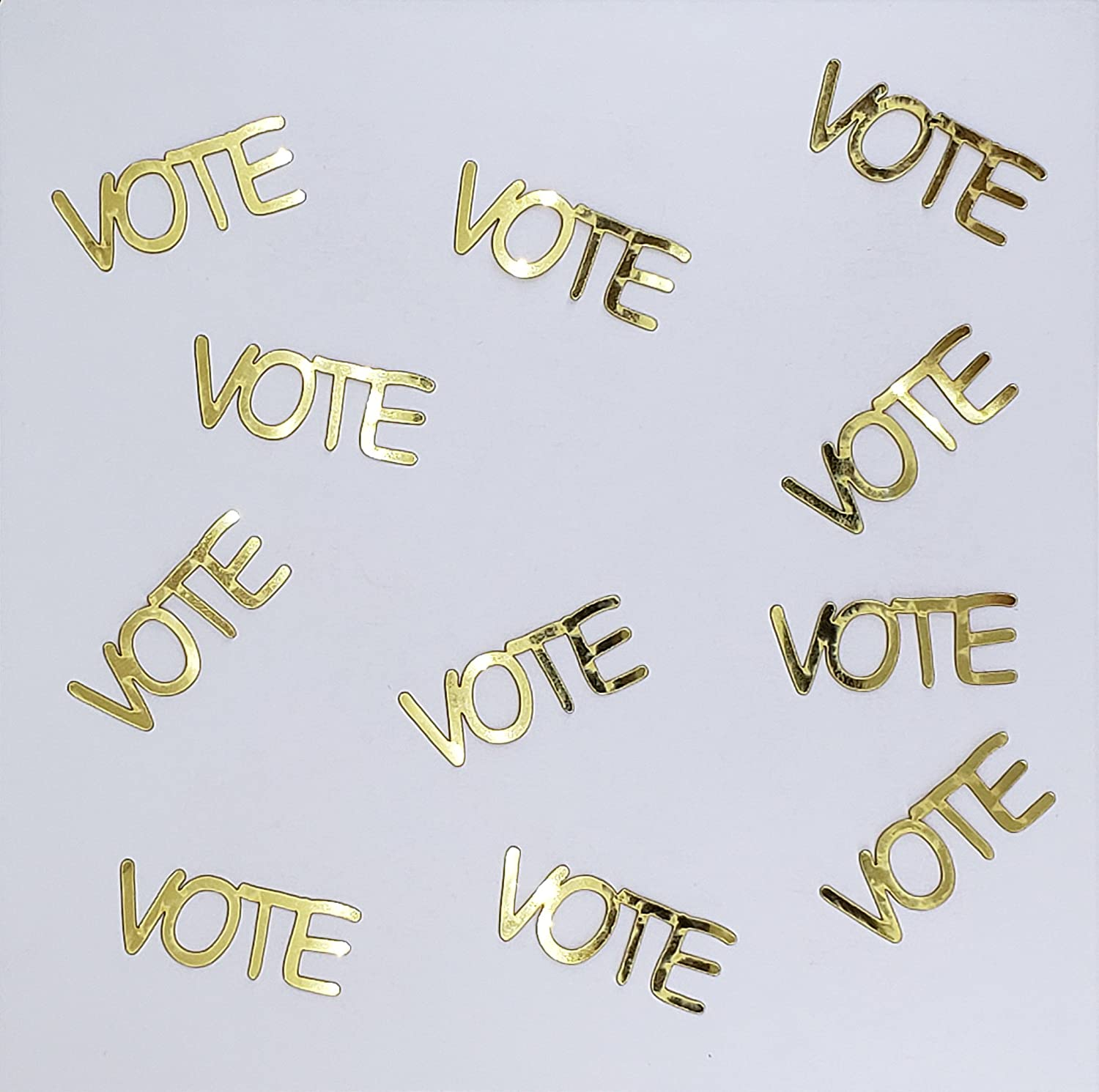 Metallic Confetti Word - VOTE in 12 Colors (Also Available in Paper) #4391