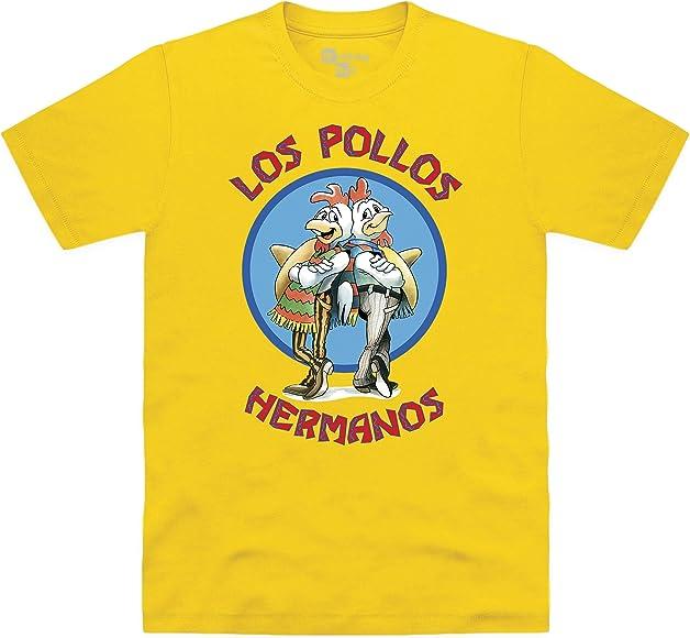 Official Breaking Bad - Los Pollos Hermanos Camiseta, para Hombre: Amazon.es: Ropa y accesorios