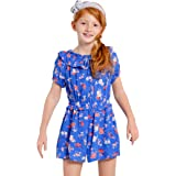 A for Awesome Youth Girls Short Sleeve Romper Jumpsuit