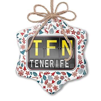 Amazon.com: NEONBLOND Christmas Ornament TFN Airport Code ...