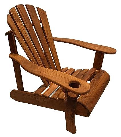 Astonishing Amazon Com Handmade Outdoor Teak Adirondack Chair Garden Download Free Architecture Designs Rallybritishbridgeorg